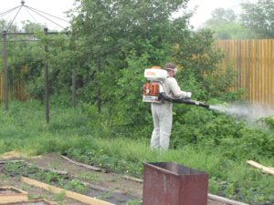 Уничтожение комаров в регионе