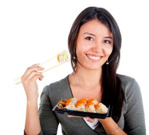 Суши из сырой рыбы
